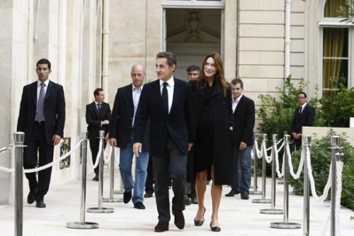 E' nata Dalia Sarkozy, la piccola di Carla Bruni e Nicolas Sarkozy